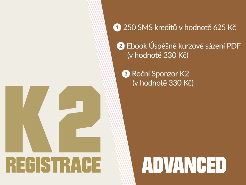 K2 registrace - ADVANCED