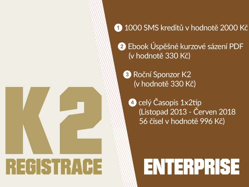 K2 registrace - ENTERPRISE